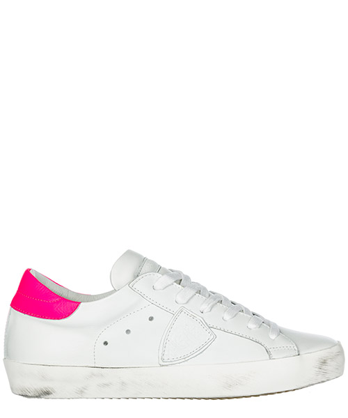 Sneakers Philippe Model Paris A19ECLLDVN09 veau neon blanc fucsia