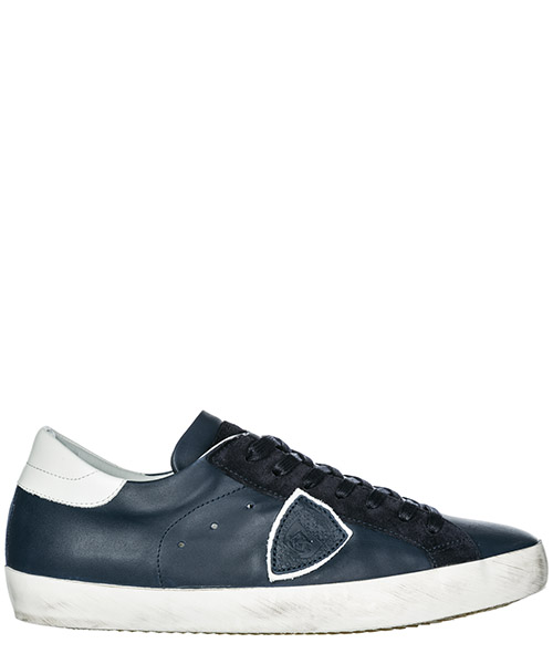 Basket Philippe Model Paris A19ECLLUV087 veau bleu