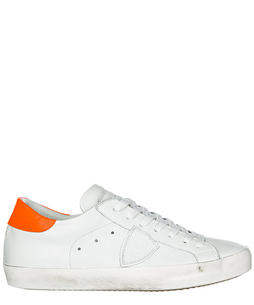 Sneakers Philippe Model Paris A19ECLLUVN08 veau neon blanc orange