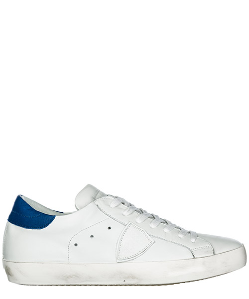 Basket Philippe Model Paris A19ECLLUVN11 veau neon blanc bluette