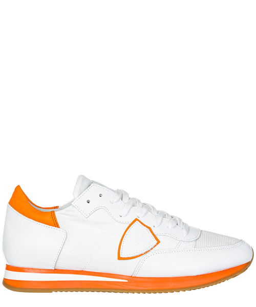 Basket Philippe Model Tropez A19ETRLUNV04 neon blanc orange