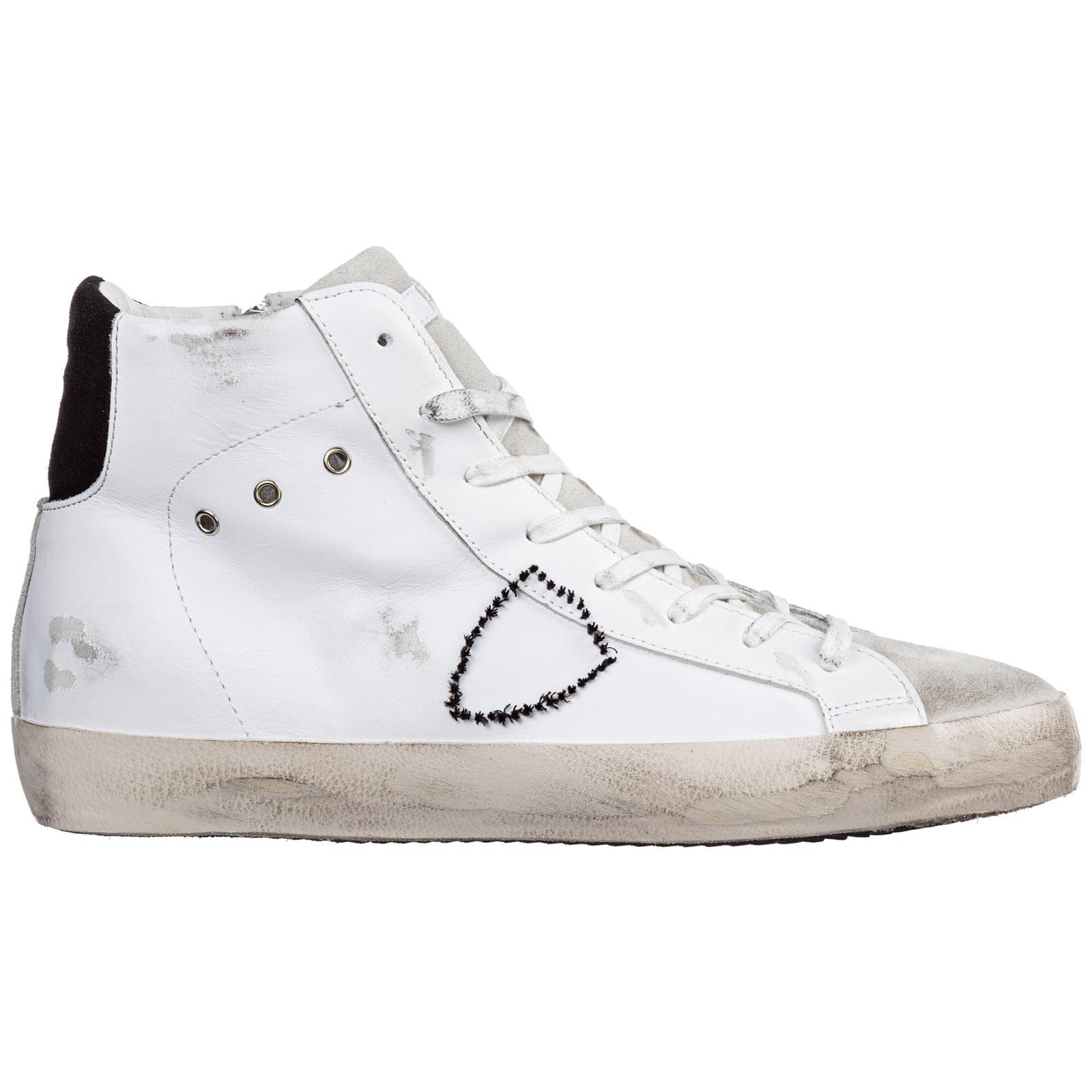 Chaussures baskets sneakers hautes homme en cuir paris