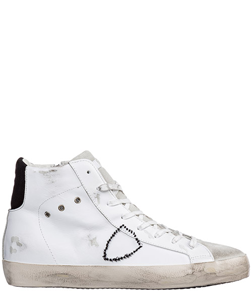Sneakers alte Philippe Model paris a19iclhuvx34 bianco