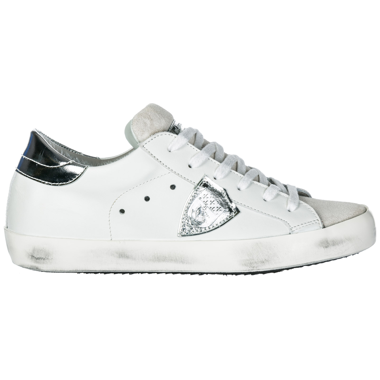 A1unclld1005 Paris Blanc Sneakers Philippe Model Basic Silver dCxBoe