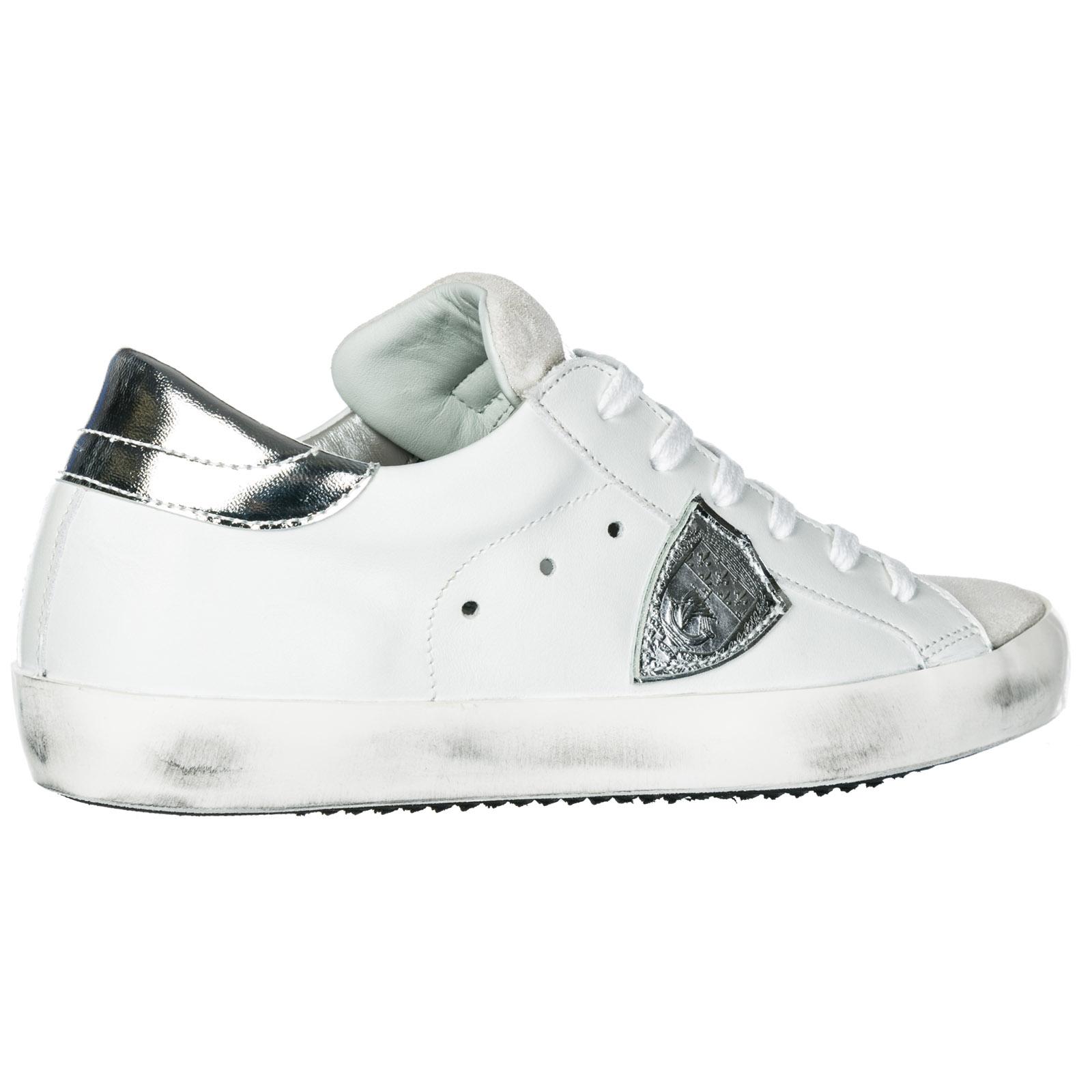 196ae2b16fa64 Sneakers Philippe Model Paris A1UNCLLD1005 basic blanc silver ...