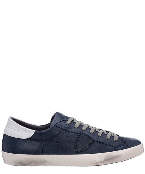 Basket Philippe Model Paris A1UNCLLU1008 bleu - bleu