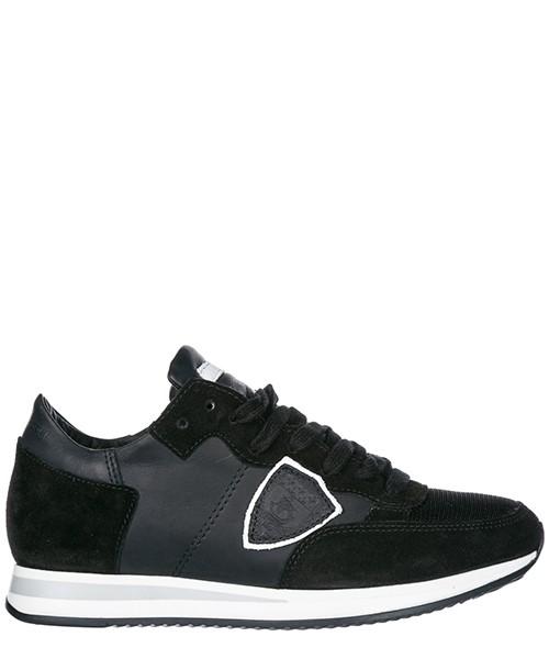 Chaussures baskets sneakers femme en daim tropez