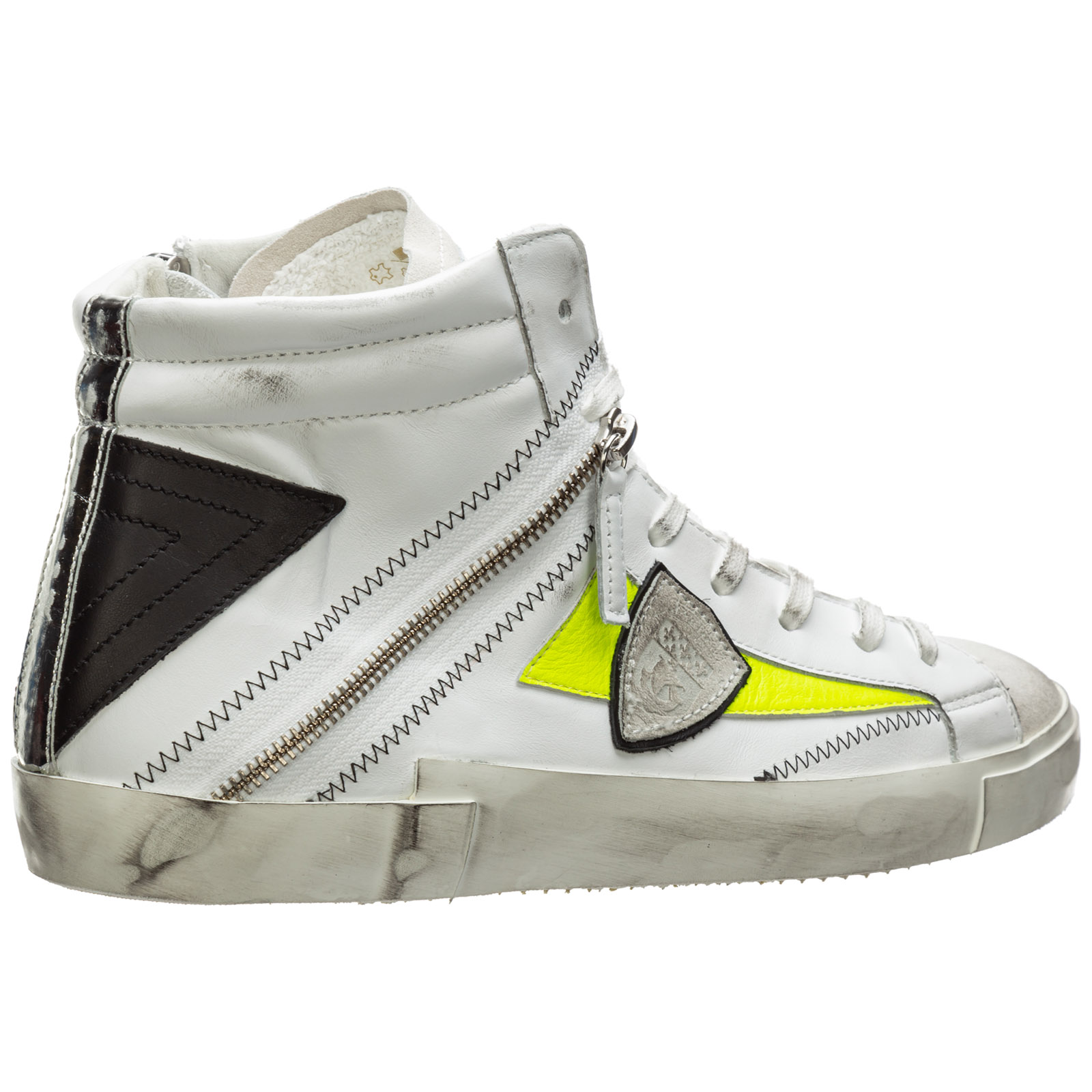 Men's shoes high top leather trainers sneakers bike