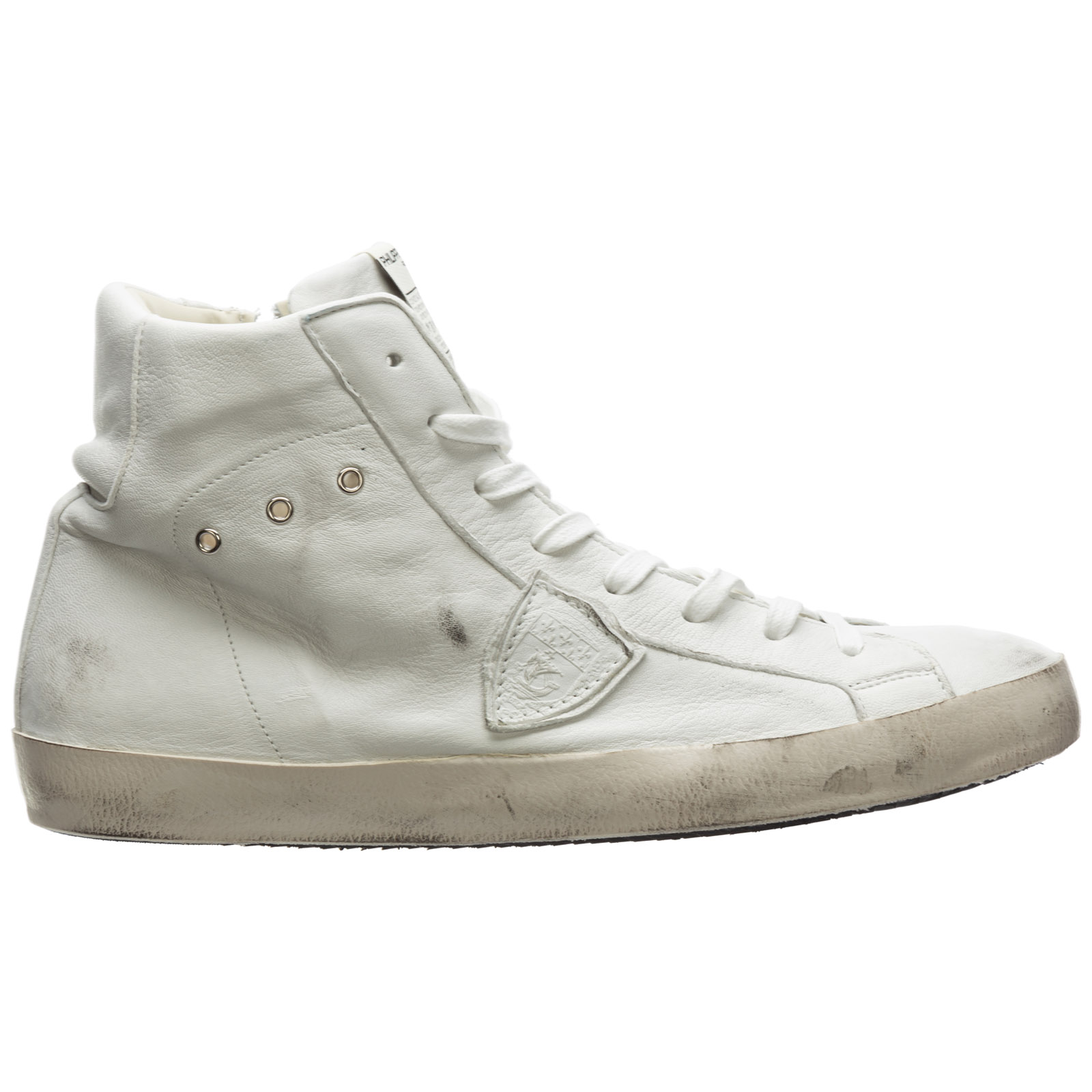 Men's shoes high top leather trainers sneakers paris
