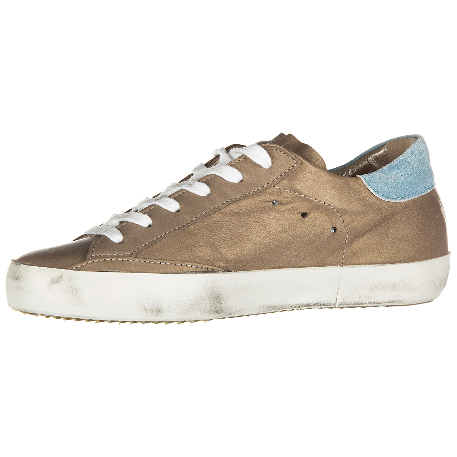 Women's shoes leather trainers sneakers classic metallic