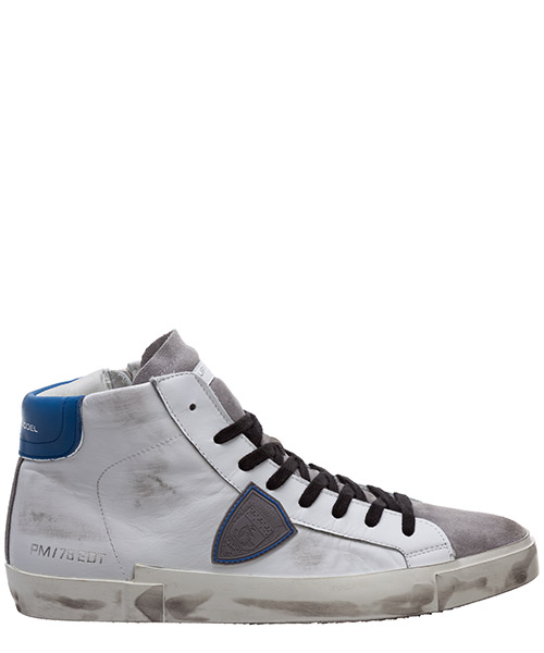 Sneaker high Philippe Model prsx a10iprhuvs04 blanc / bluette