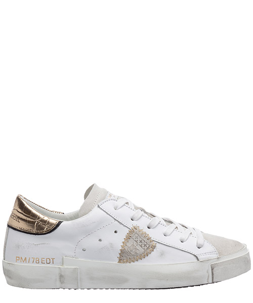 Sneakers Philippe Model PRSX A10IPRLDVC01 croco blanc