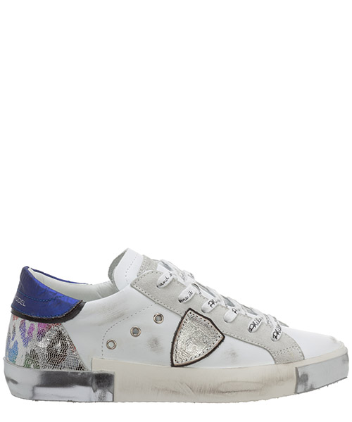 Sneakers Philippe Model Prsx A10IPRLDVMA1 metal animalier - blanc