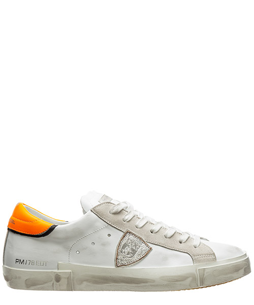 Basket Philippe Model prsx a10eprluvn01 neon - blanc - orange