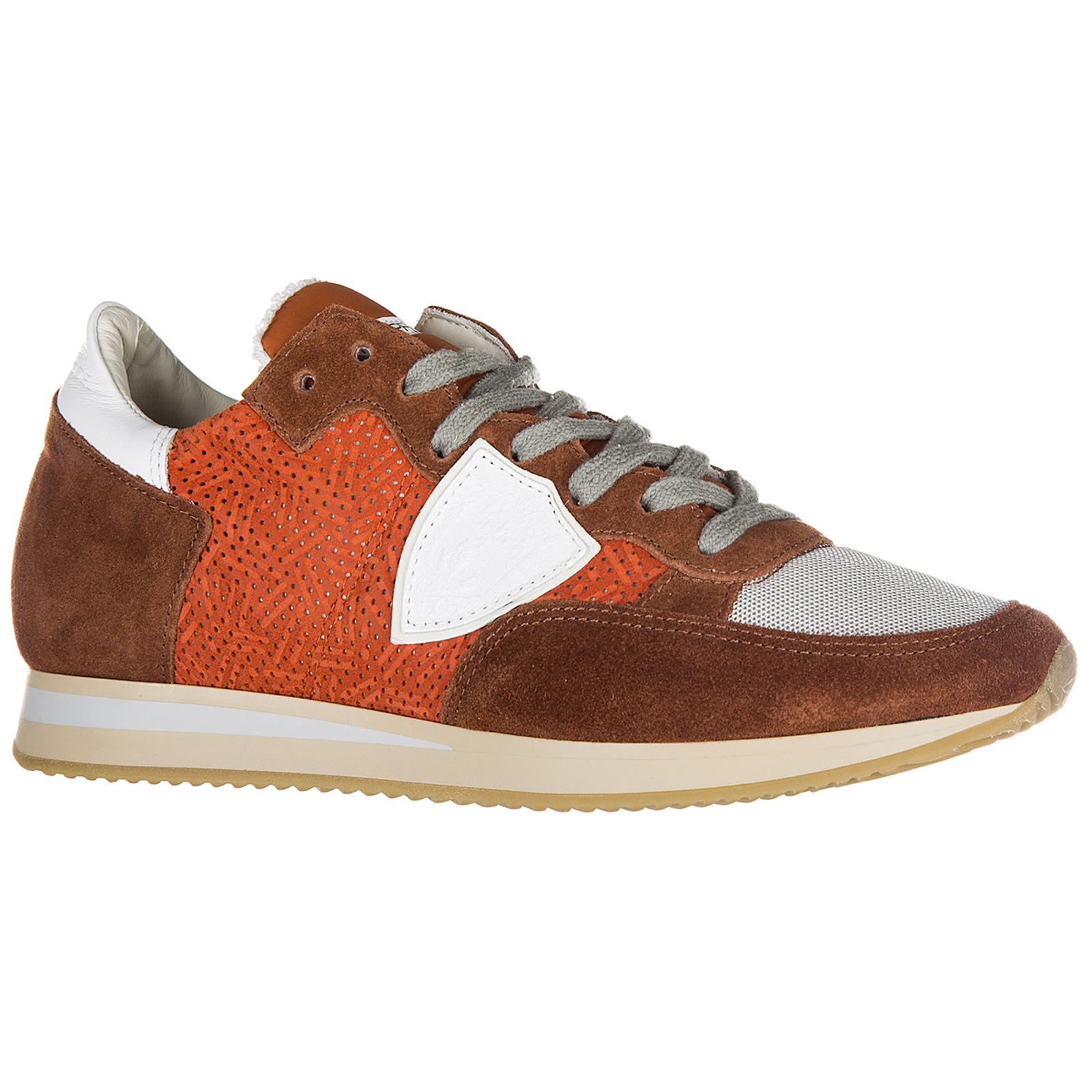 Chaussures baskets sneakers femme en daim tropez perforé