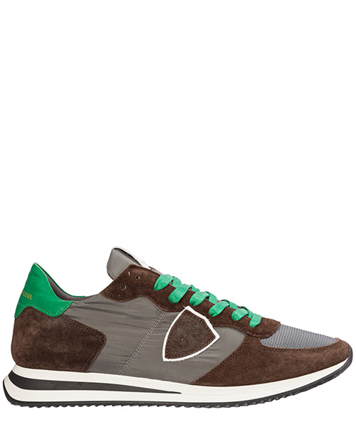 Sneakers Philippe Model mondial a19itzluw004 antracite - brun