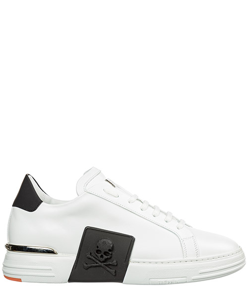 Basket Philipp Plein Phantom Kick$ A19S-MSC2275-PLE075N bianco