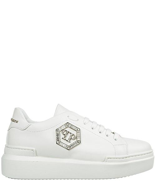 Zapatos zapatillas de deporte mujer en piel crystal