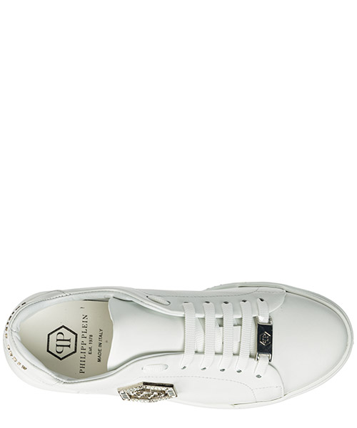 Scarpe sneakers donna in pelle crystal secondary image