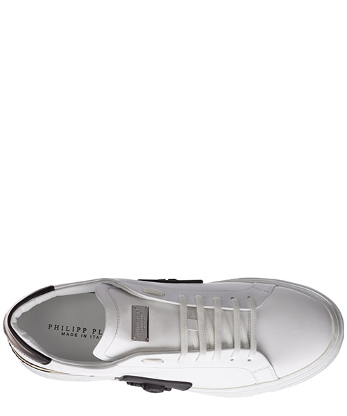 Men's shoes leather trainers sneakers phantom secondary image