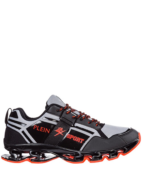 Беговая обувь Plein Sport Runner cross tiger F19S MSC2239 STE003N black / red