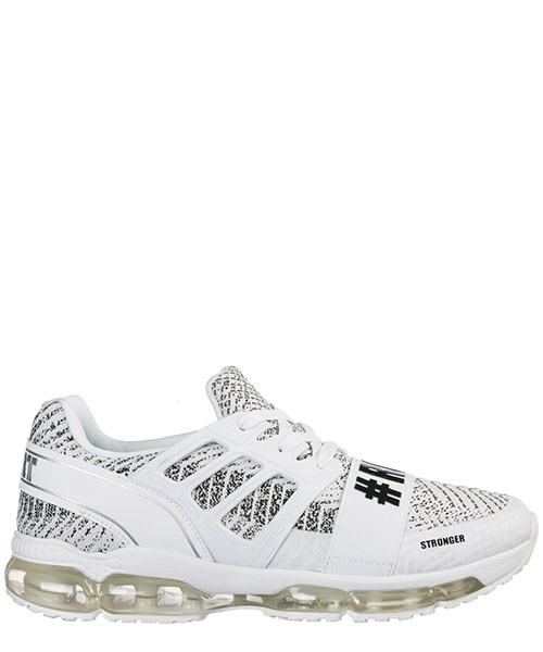 Running shoes Plein Sport Runner Original P19S MSC2025 STE003N bianco