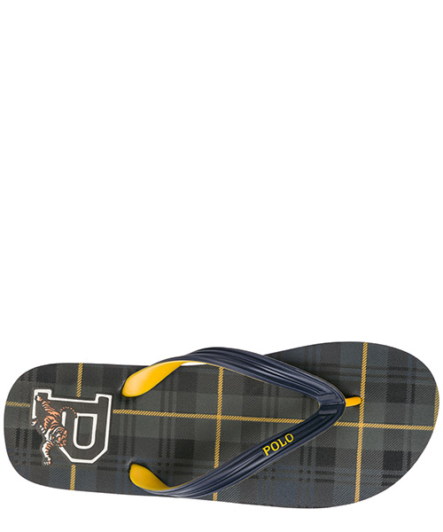 Men's rubber flip flops sandals  whittlebury secondary image