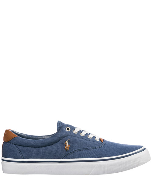 96cf47b447f Basket Polo Ralph Lauren Thorton 816747519002 blu navy newport Chaussures  baskets sneakers homme ...
