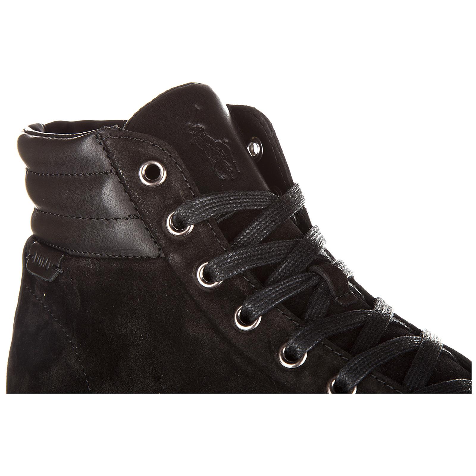 Scarpe sneakers alte uomo in camoscio geffron