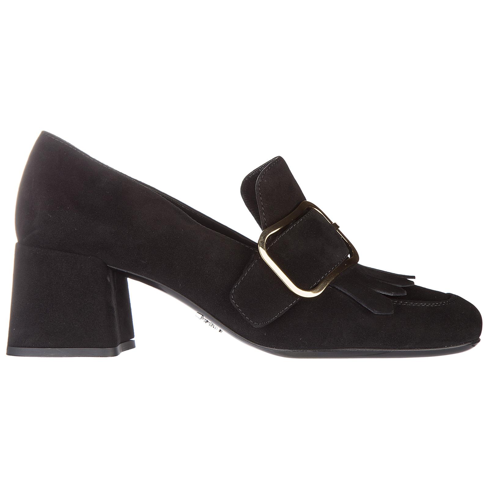 Decolletes decoltè scarpe donna con tacco camoscio