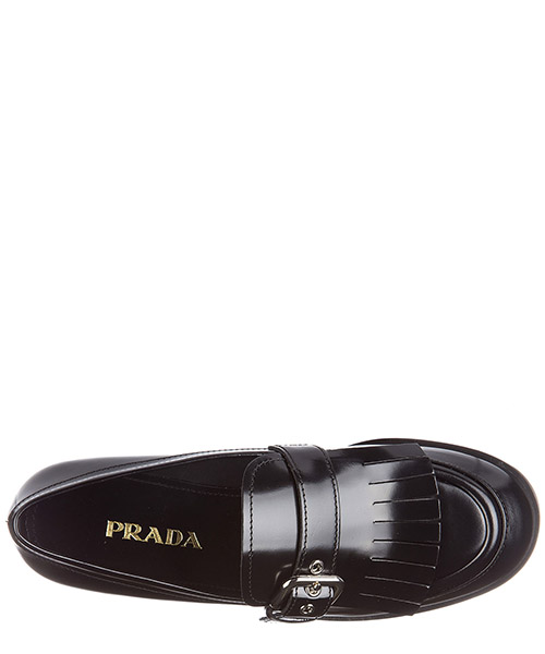 Women's leather loafers moccasins  spazzolato fumè secondary image