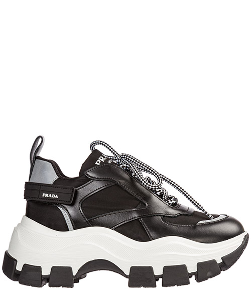 Zapatillas  Prada Block 1E586L_3KY9_F0967_F_075 nero + bianco