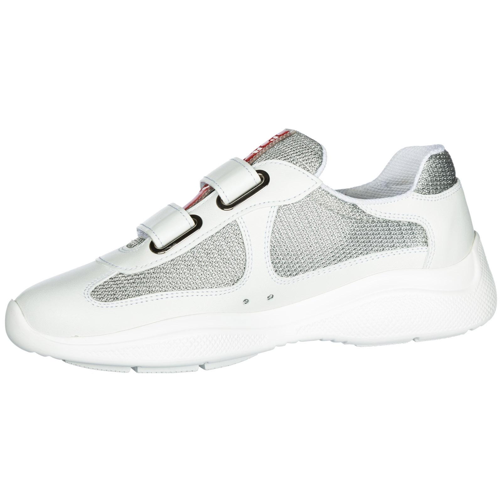 5758eccbfc1 Sneakers Prada America s Cup 1E796I 6GW F0J36 F 025 bianco+argento ...