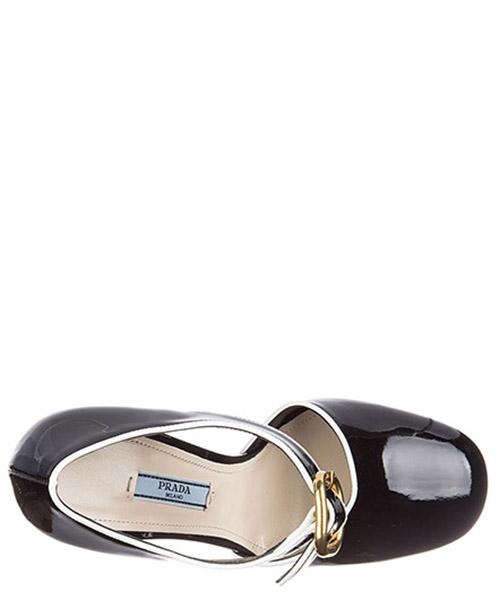 Damenschuhe leder pumps mit absatz high heels vernice bicolor secondary image