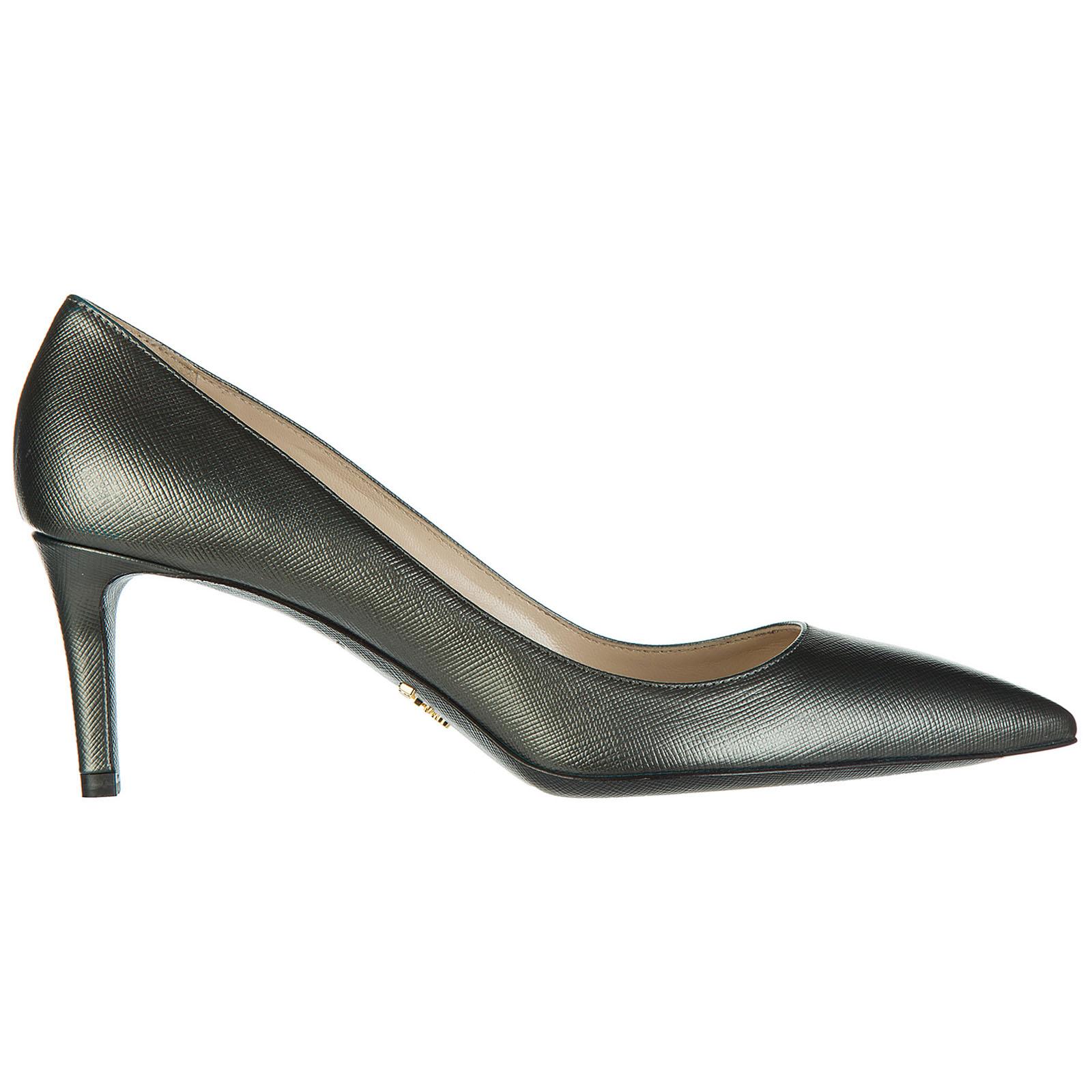 Decolletes decoltè scarpe con tacco pelle metal