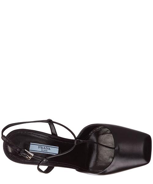 Women's leather platform pumps court shoes heel secondary image