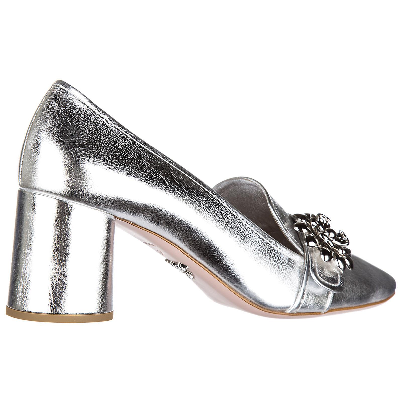 Decolletes decoltè scarpe donna con tacco pelle shine