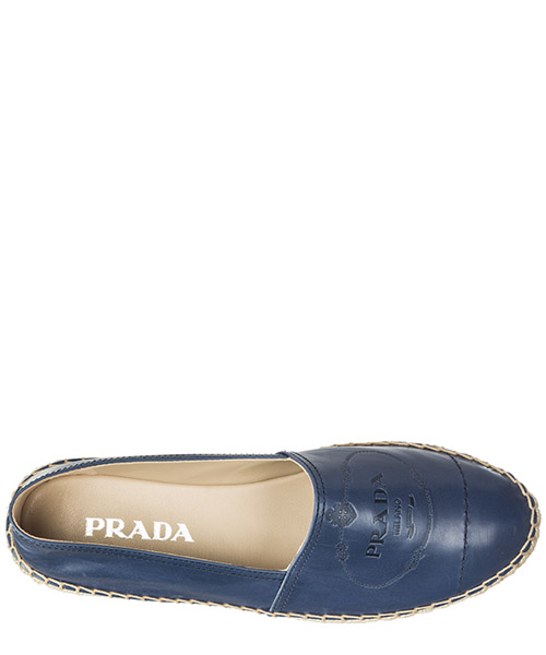 Women's espadrilles slip on shoes in pelle secondary image