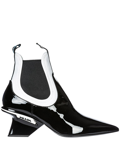 Bottines à talons Prada 1T123L_3V57_F0967 black - white