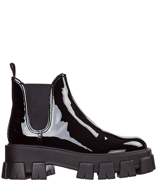 39a29f684fe983 Heeled ankle boots Prada 1T725L_069_F0002_F_055 nero Women's leather ...