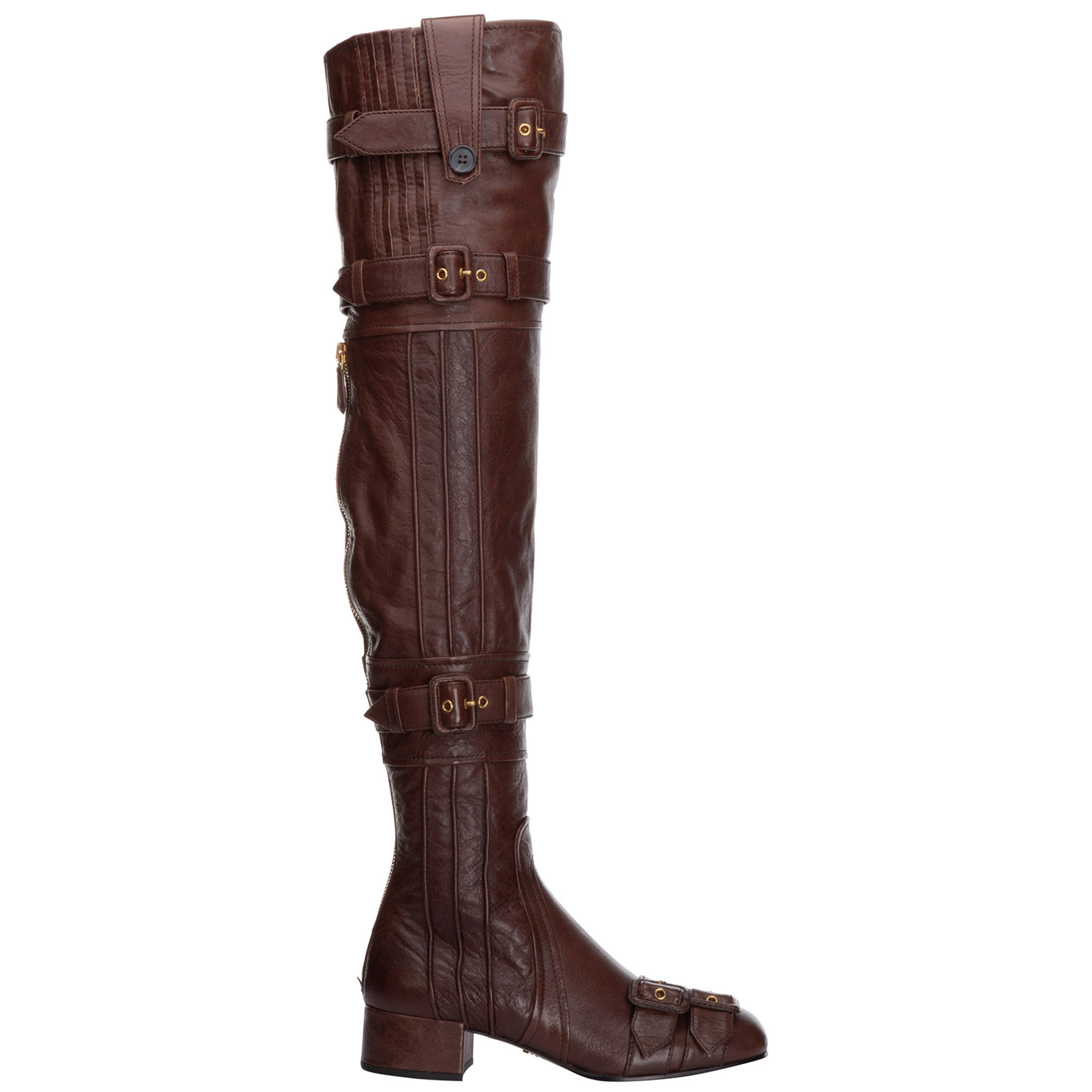 b903d15508f Over the knee boots Prada 1W058I273ACMCACAO cacao