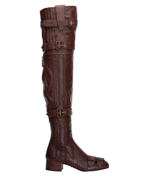 Stivali sopra il ginocchio Prada 1W058I273ACMCACAO cacao
