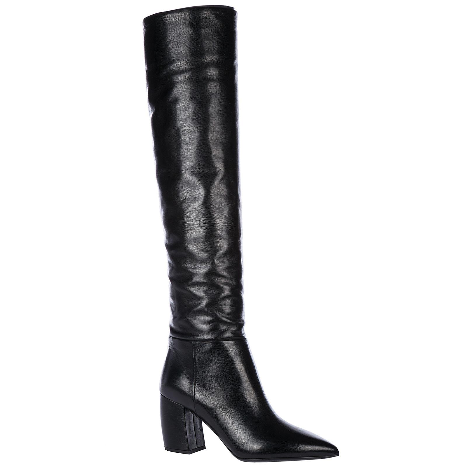 Stivali donna con tacco pelle Stivali donna con tacco pelle ... 879c6b25512