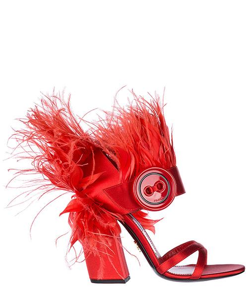 Sandal Prada 1X010I27R0KFUOCO rosso