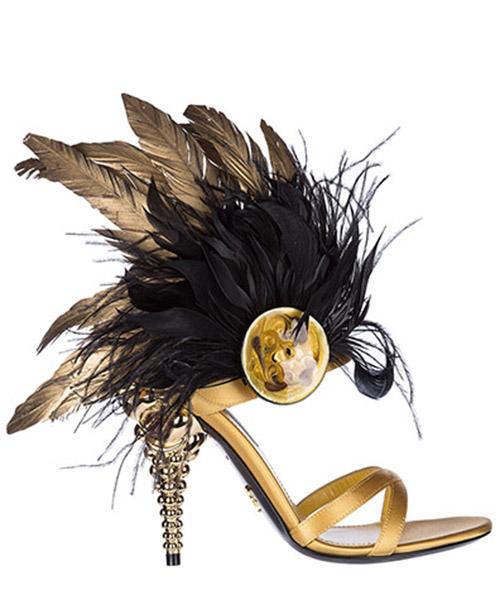 Sandales Prada 1X057I273K3TGIOR ginestra  - oro