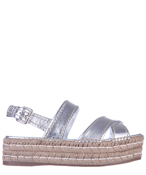 Wedge sandals Prada 1X375G 55LF0118 argento