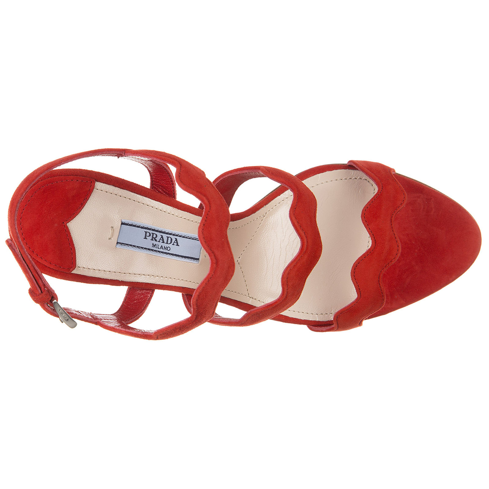 Women's suede heel sandals lacca