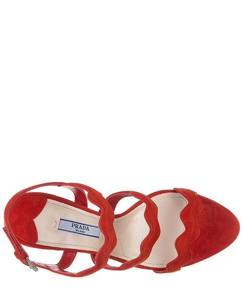Sandales femme à talon en daim lacca secondary image