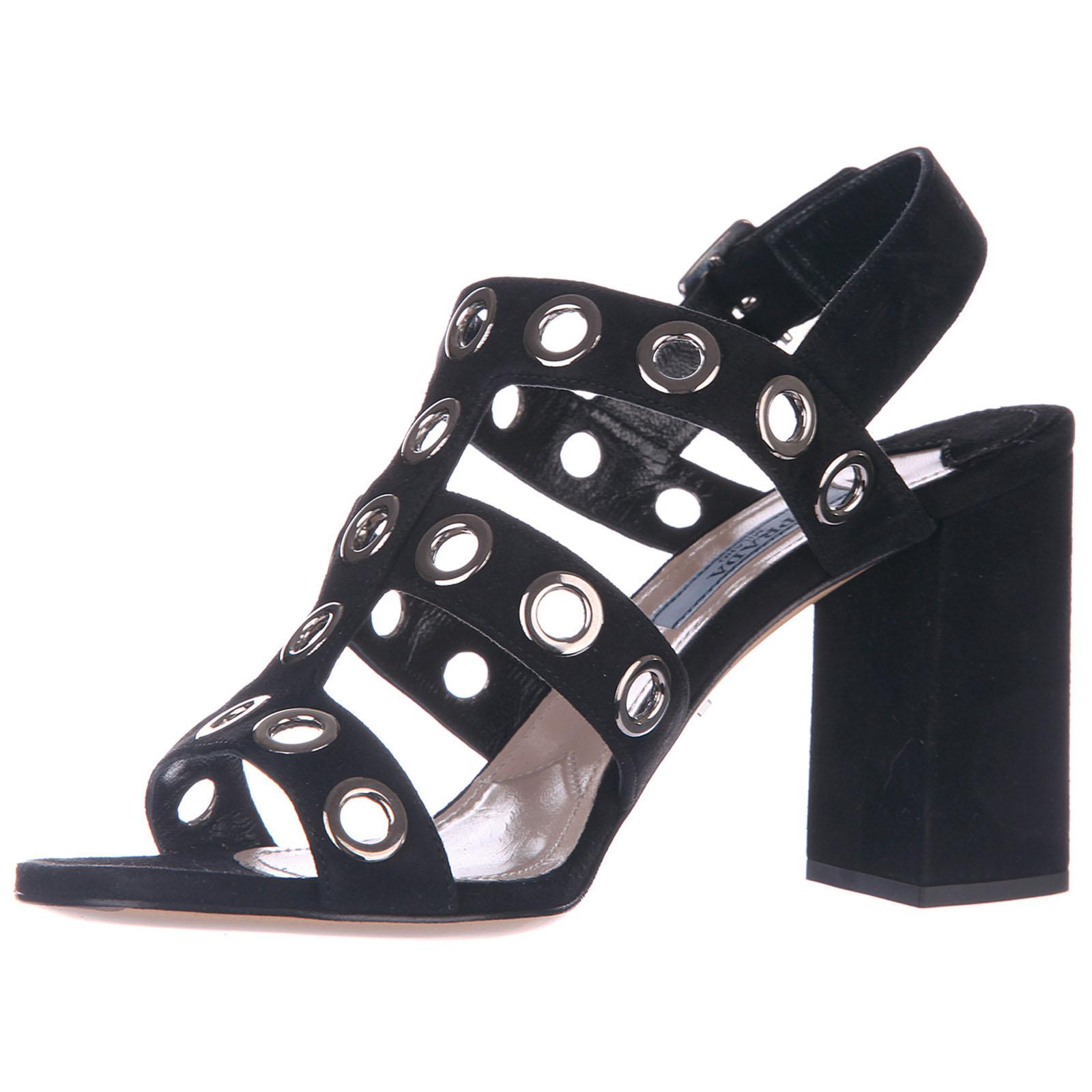 Sandalias de tacón mujer en ante