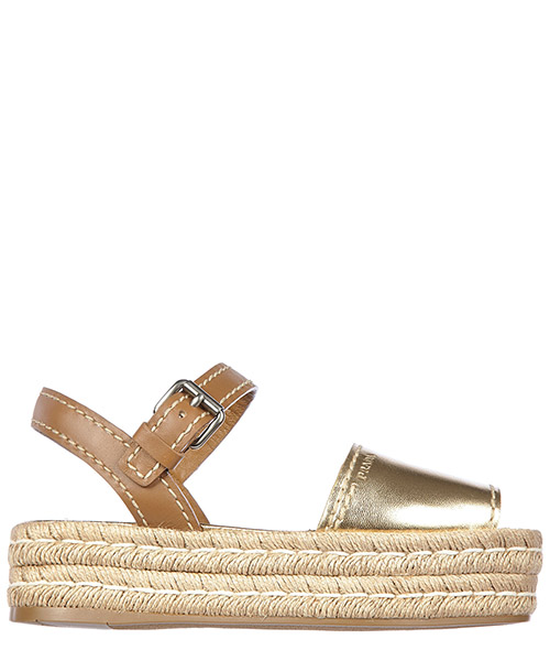 Wedge sandals Prada - 1X736F 3G7T F0GL207 oro